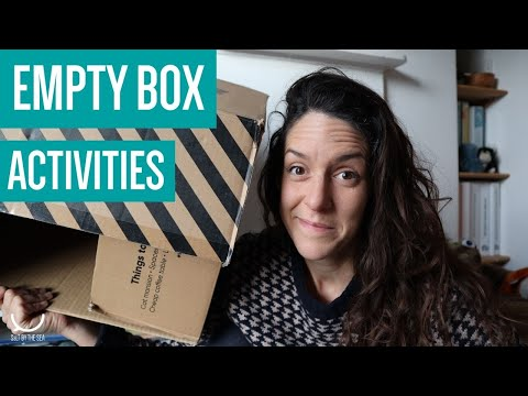 Speech & Language ideas: things to do with a cardboard box